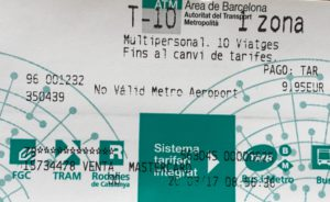 Barcelona Subway Ticket